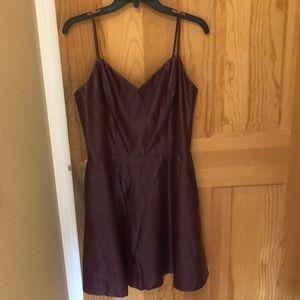 AQUA plum mini dress